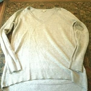 Gap cashmere blend grey v neck sweater, xs